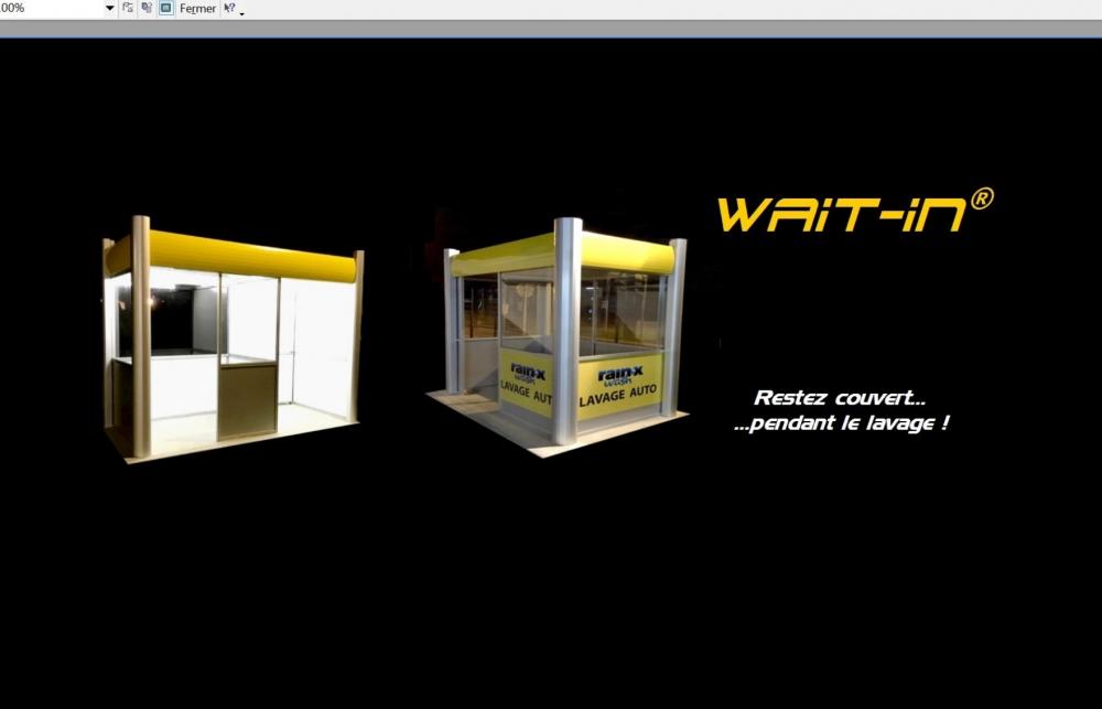 WAIT-IN: abris clients et bornes paiement